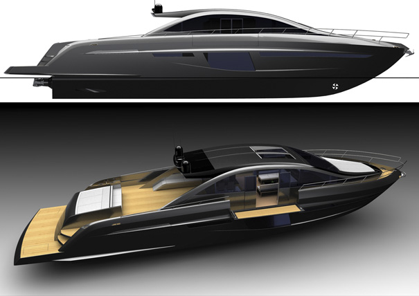 Sentori 84 open motor yacht by Motion Code Blue
