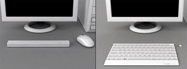 None Bacteria Project Keystick – Folding Keyboard by Yoonsang Kim & Eunsung Park