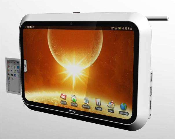 HTC evolve Android OS Running Tablet Computer by Timur Pinar