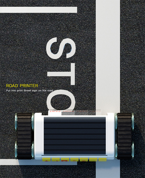 Road Printer - Sign Printer by Hoyoung Lee, Doyoung Kim & Hongju Kim for Designsory