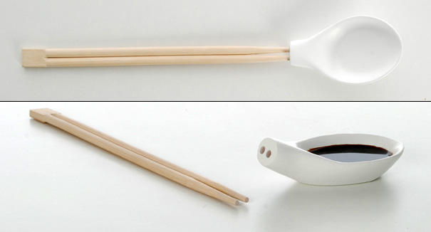 Chopsticks Plus One – Chopstick Spoon Project by Aïssa Logerot