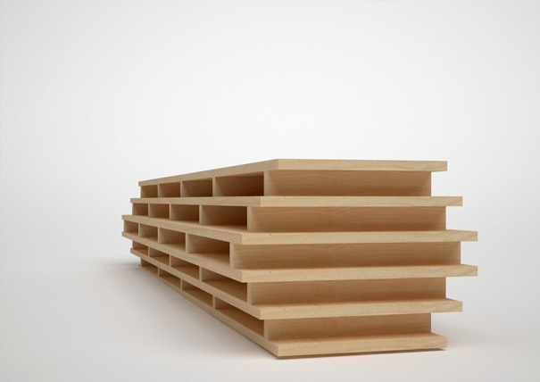 Horizontal Bookcase by Véronique Huyghe