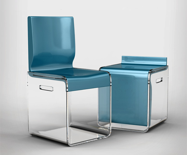 boxy chairs with spaces yanko design