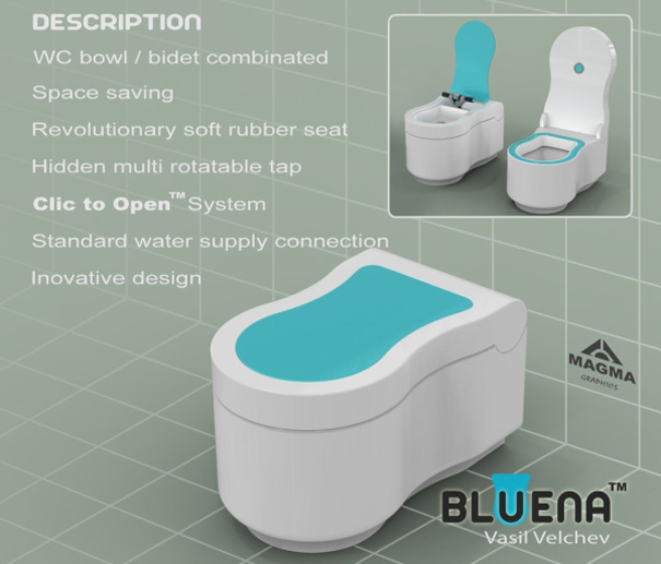 blue blue bidet yanko design. Black Bedroom Furniture Sets. Home Design Ideas