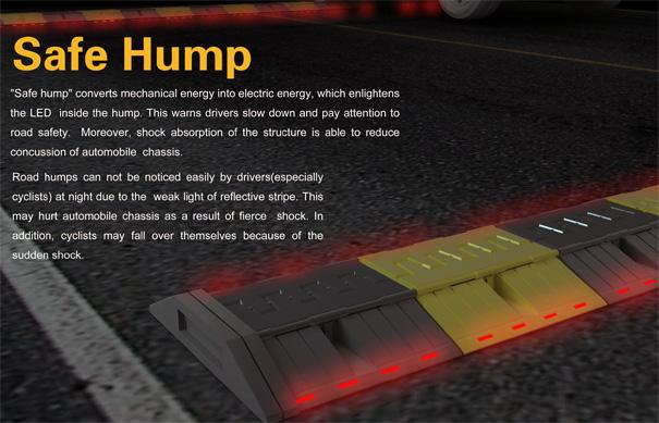 Safe Hump LED Speedbreaker by Zhang Yakun, He Siqian, Zhu Ningning, Chen Chen & Mu Zhiwei
