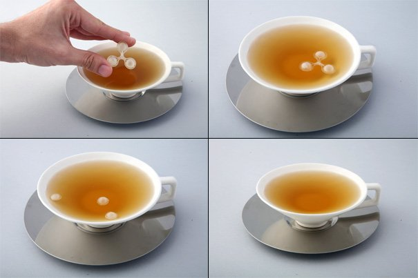 TEA=TIME Tea Cups And Sugar Bubbles by Erez Bar-Am