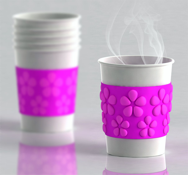 Air Shield Coffee Cup Sleeve by Frank Xing