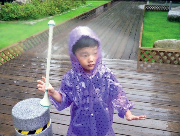 Child holding Air Umbrella
