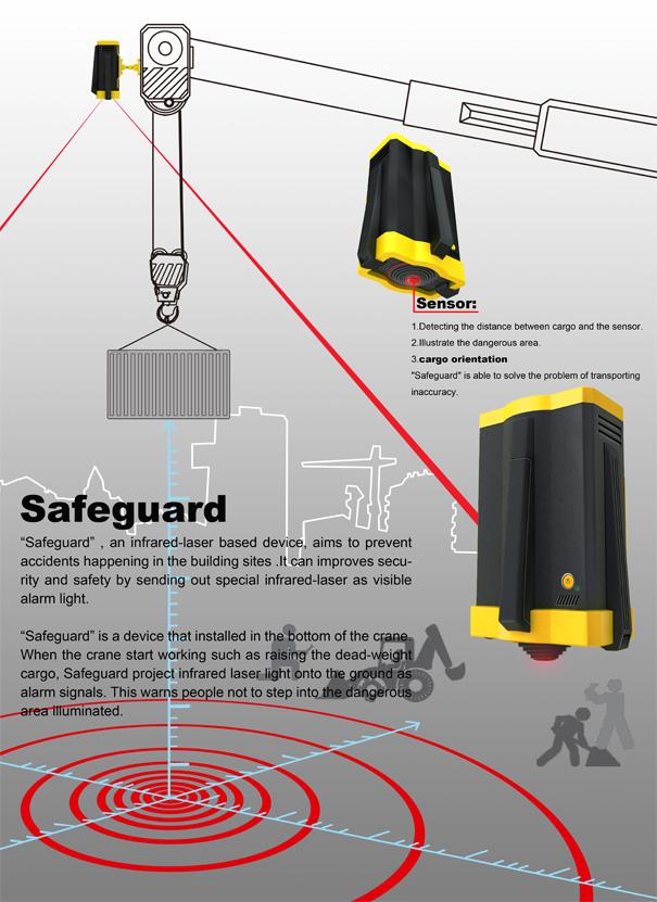 Safeguard Infrared Warning Device For Cranes & Cargo Transport by Zhang Yakun, He Siqian, Zhu Ningning, Chen Chen &Mu Zhiwei
