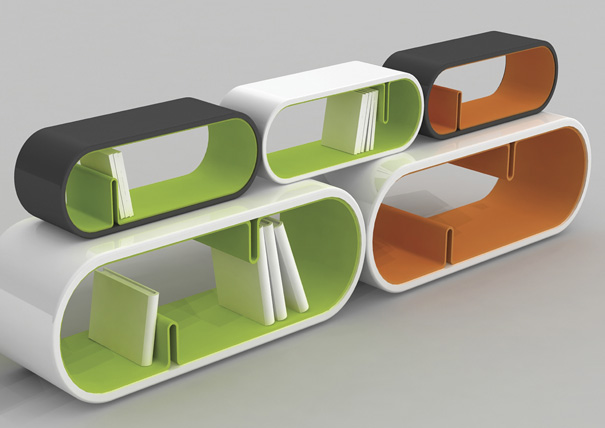 Round Book Shelves by Je Sung Park