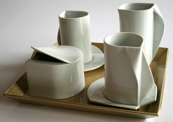 White Caffee (aka coffee) Service Set by Klaudia Miczan