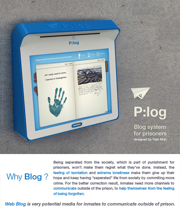 P:log – Blog System For Prisoners by Yejin Mun