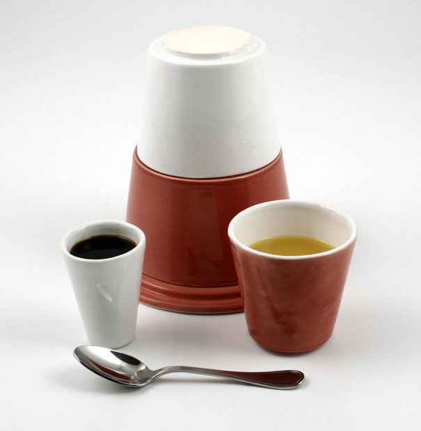 On the Road Ceramic Breakfast Set by Pierre Lescop