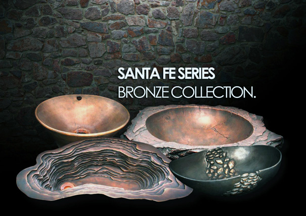 Santa Fe Bronze collection of sinks by Domain Industries, Inc.