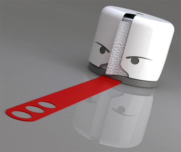 Guardian Toilet Paper Keeper by Mauricio Sanin Mazuera