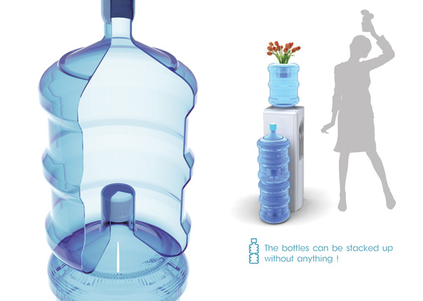 5 Gallons Mineral Water Stackable Bottle by Yujin Kim