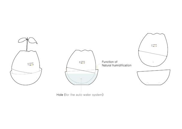 Eggpot by BANG ki ryoul