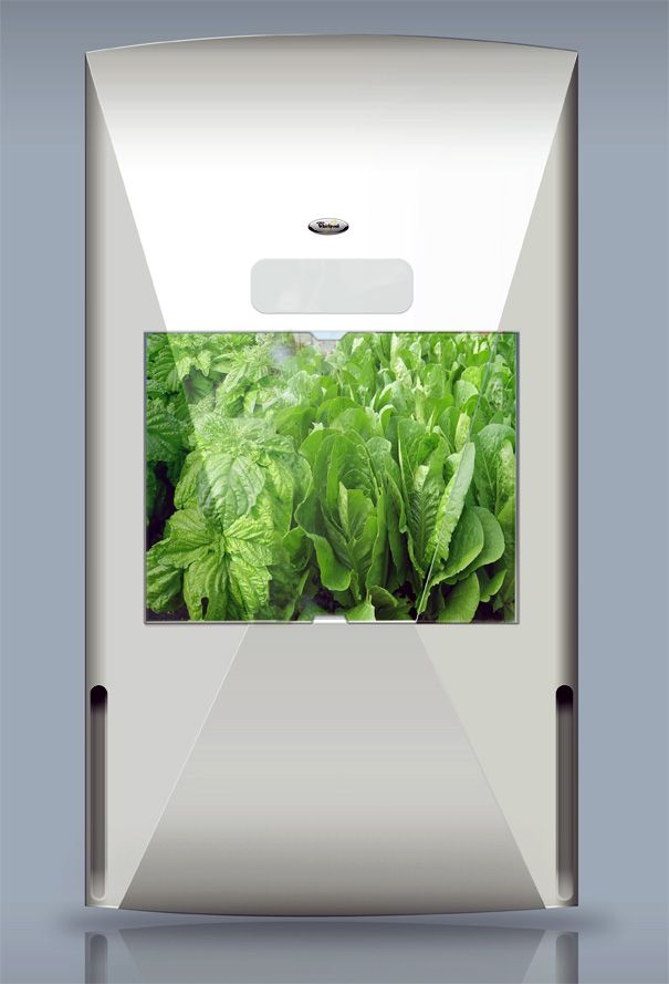 Kitchen Garden Refrigerator by Hanna Sandstrom with Green Fortune & Whirlpool