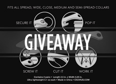 Bond With The Best: Three Sets of Versatile Exuvius Titanium Collar Stays To Be WON!