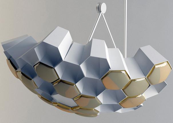 hexagon lights yanko design