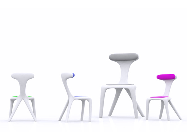 Invasion chair by Jean-Jacques Jungers for MT4 Architects
