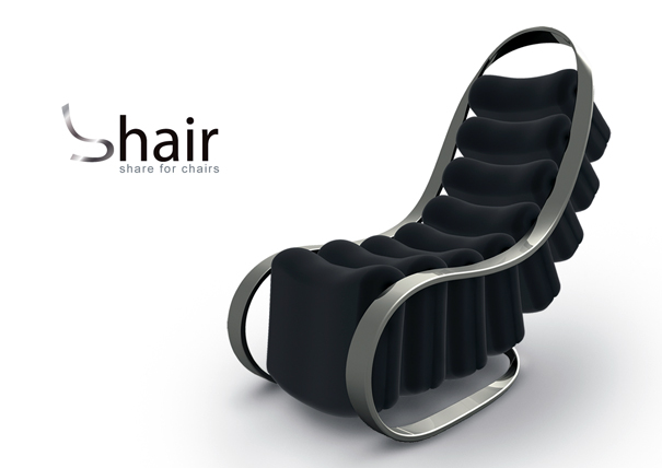 Shair single or multiple chair by Jie-Jyun Lyu