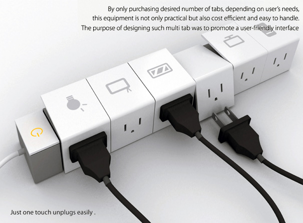 Multi-Tab Power Strip by Soon Mo Kang