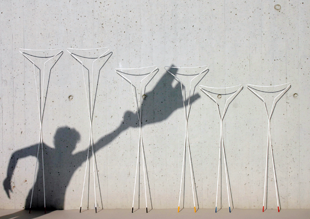 Siluet sculptural clothing hanger by Stephanie Estoppey