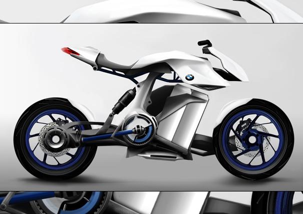 BMW HP Kunst hydrogen motorbike concept by Vincent Montreuil, Arik Schwarz, Benoît Czyz, and Charles Edouard Berche