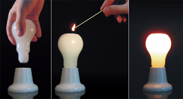 The Light Bulb Effect - Bulb Candles by Helbert Ferreira & Remi Melander