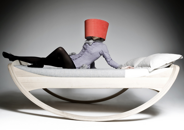 Private Cloud Model 1.2 slanted in stillness or rocking in motion bed by Mkloker Design