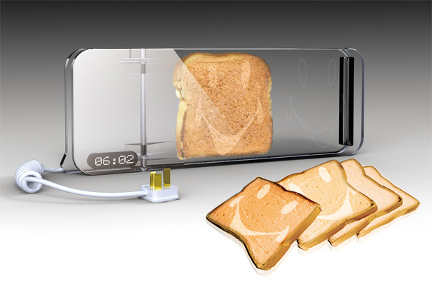 designer kitchen gadgets put a smile on your toast yanko design 356