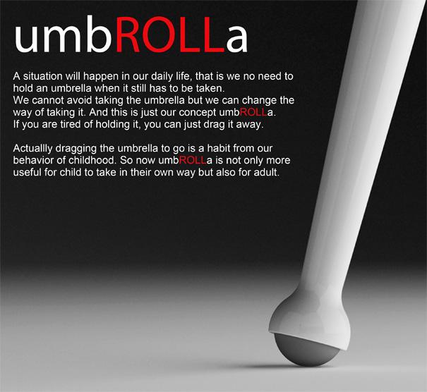 umbROLLa – Umbrella Re-design by Qian Jiang & Yiying Wu