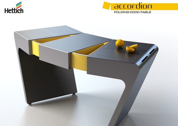 Accordion Folding Cook Table by Olga Kalugina