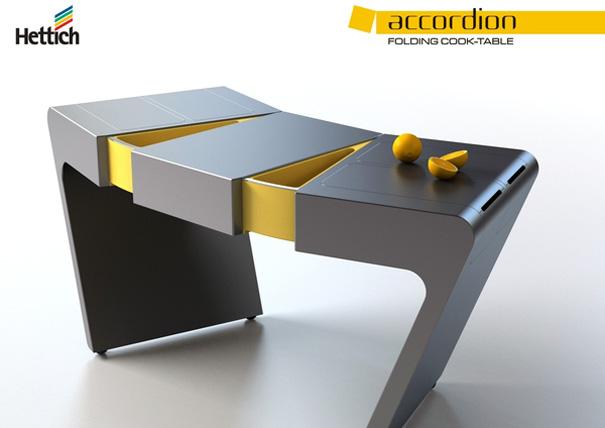 Accordion Folding Cook Table by Olga Kalugina