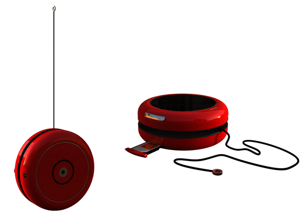 Yoyo mobile phone charger by Emmanuel Hanson