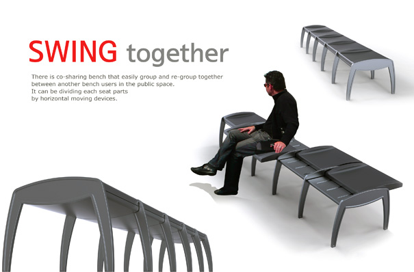 Swing Together Bench by Hanyoung Lee