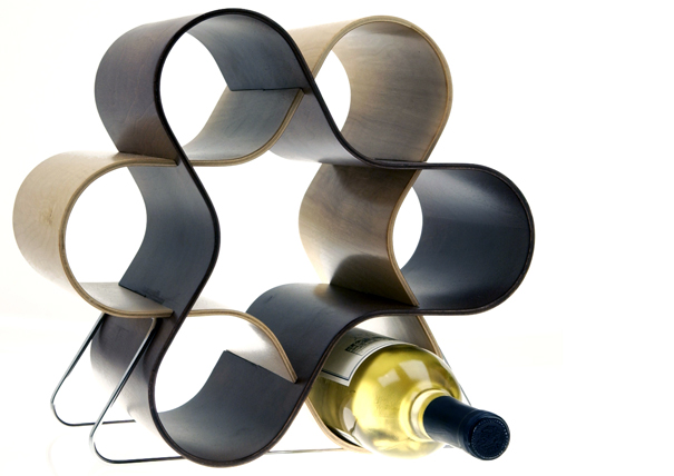 The Wine Knot Wine Rack by Scott Henderson, Tony Baxter, and Alberto Mantilla