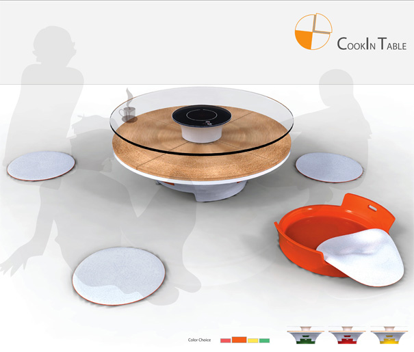 CookIn Table - Induction Cooking Table by Young-Chan Choo