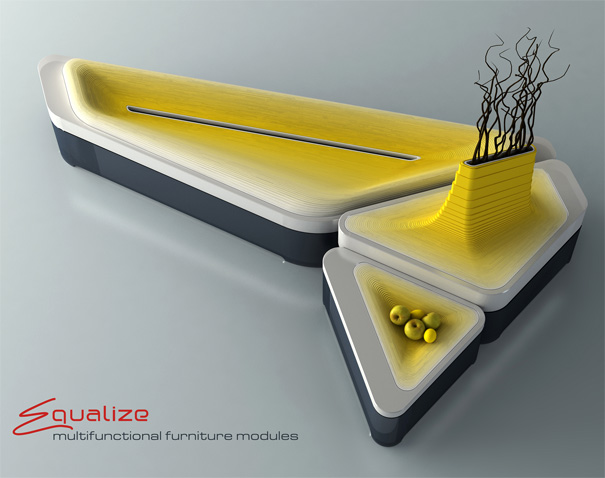 Multifunctional Furniture Modules EQUALIZE by Olga Kalugina