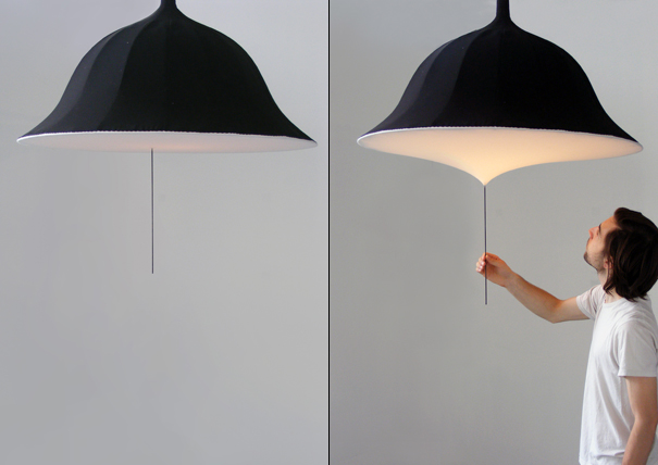 Etirement lamp with a dimmer by Rémi Bouhaniche