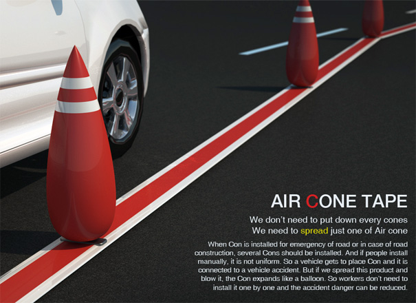 Air Cone – Road Cones by Hoyoung Lee, Youngwoo Park & Junkyo Lee