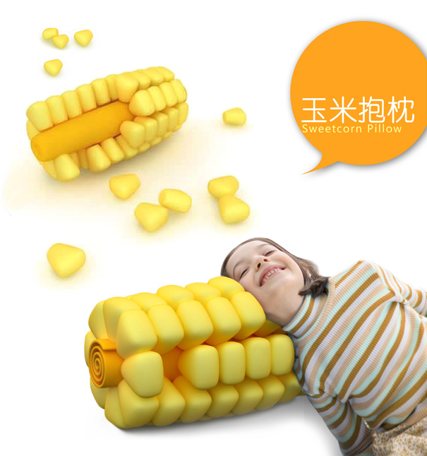 Sweetcorn Pillow by Weng Jie