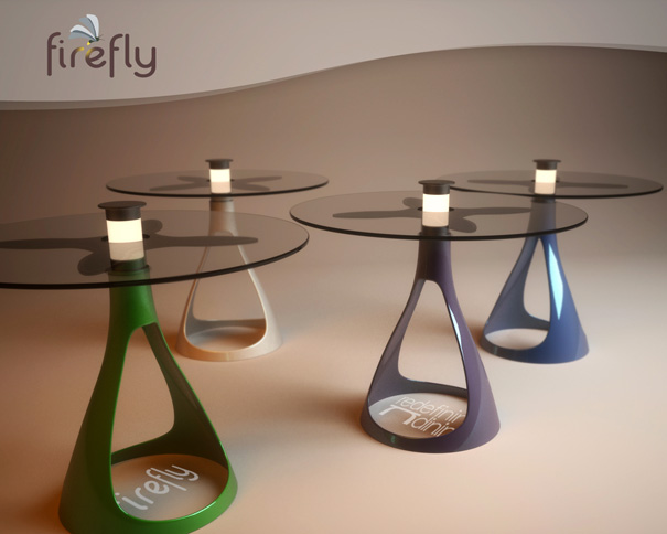 Firefly Solar Lamp Table by Vuk Dragovic