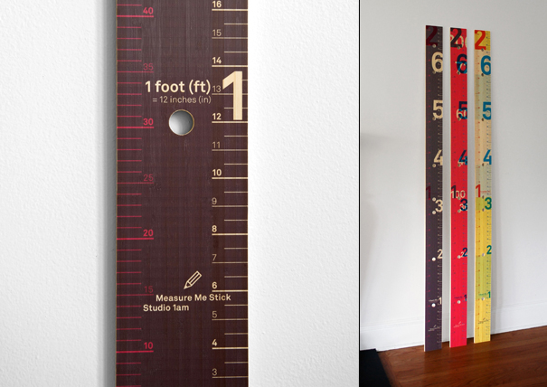 MeasureMe Stick for tracking the height of young children growing up by Studio 1a.m.