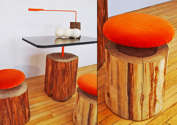 Urban Logs furniture by Ilan Dei Studio