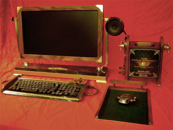 Steampunk Computer by Old Time Computer
