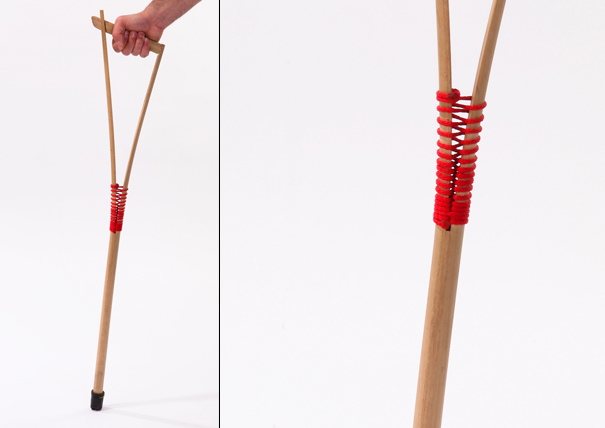 Walking Cane made out of a broom handle by Itay Laniado