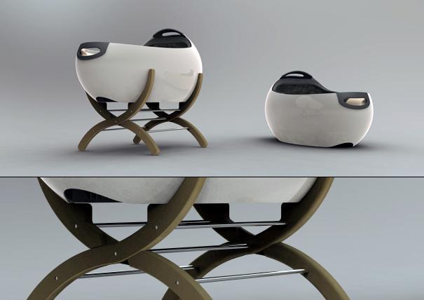 Baby Cot Pod by Shaun Milburn and PER Design