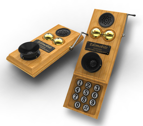 Ediphone Patented Portable Talking Box (Cellphone) by Bill Gould